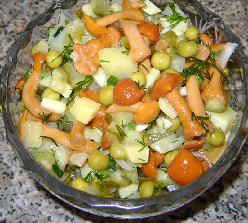 Салат «Грибная пол» с опятами - рецепт с фото на Саечка