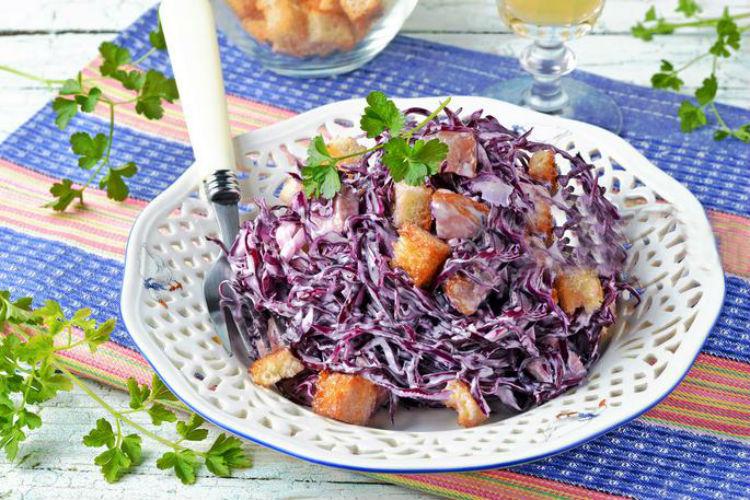 рецепты салатов из синей к