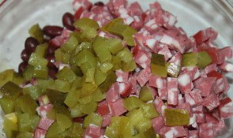 салат из красной фасоли консервированной