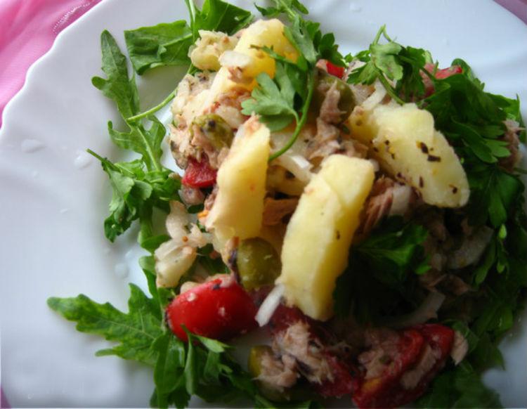 салат рыбный с картошкой классический рецепт