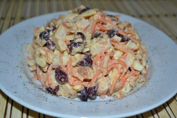 Салат с курицей  russianfoodcom