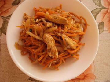 Салаты с корейской морковью